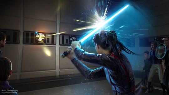 The all-immersive experience also features entertaining activities, such as wielding a lightsaber while facing off against a training remote, where you may discover your own connection with the Force.