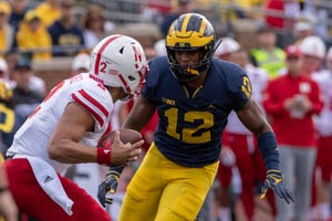 An ankle sprain might keep Michigan linebacker Josh Ross on the sidelines for Saturday's game against Rutgers.