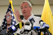 In this Aug. 14, 2019 file photo, New Jersey Gov. Phil Murphy speaks to reporters in Newark, N.J. The state can move ahead with a new law allowing terminally ill patients to seek life-ending drugs, a state appeals court ruled Tuesday, Aug. 27, 2019 overturning a lower court's temporary hold on the law. Murphy signed the bill in April, making New Jersey the seventh state allowing the practice.