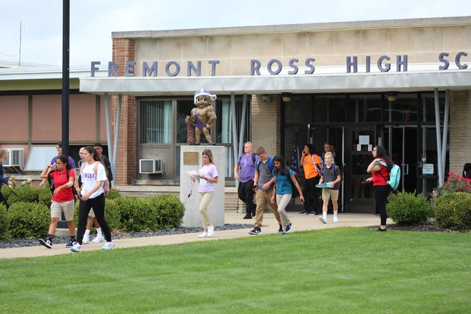 Dozens of students came pouring out of Ross High School Tuesday as the first day of school ended around 2:30 p.m.
