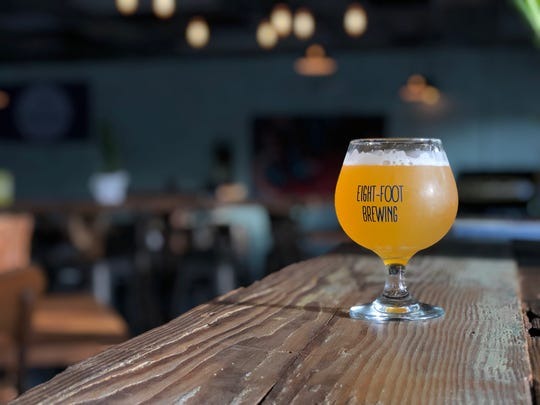 Eight-Foot Brewing's beer menu is divided into three sections -  'clean beer,' 'alt beer,' and 'mixed-fermentation.'