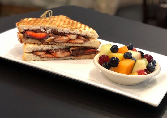 The Nutella and strawberry sandwich is one of the most popular items on Pure Eatery's kids' menu.