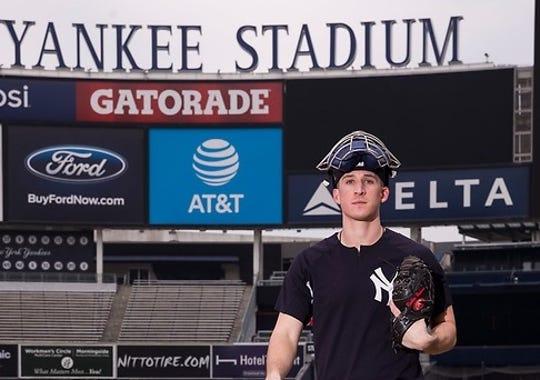 Radley Haddad inside Yankee Stadium.