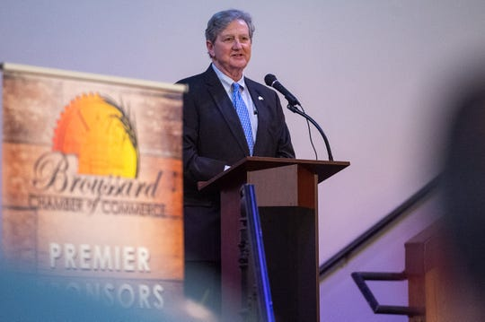 U.S. Sen. John Kennedy (R-La.) speaking to the Broussard Chamber of Commerce Tuesday about his legislative initiatives. Tuesday,  Aug. 27, 2019.