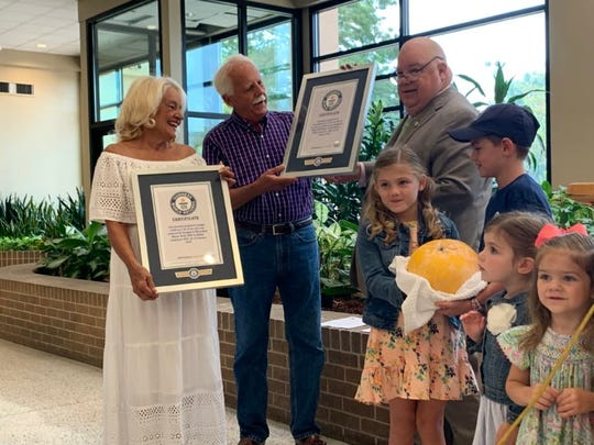 World Record Grapefruit in Louisiana officially titled. Slidell couple Mary Beth and Doug Meyer grew the sweet and tangy fruit with their four grandchildren, who built a fairy garden under the tree.