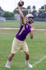 Senior Kyle Lutz will be Fowlerville's starting quarterback for the season opener at Charlotte.