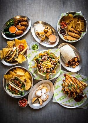 Bubbakoo's Burritos menu options.