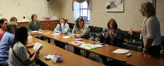The training covered what to look for in a trafficked victim and how the staff can work together to help victims become survivors.