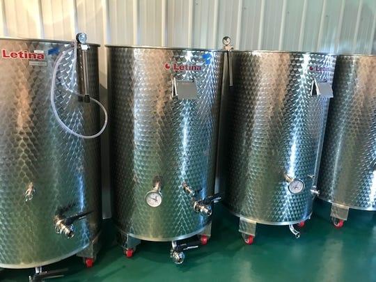 Wine tanks at Silarian Vineyards