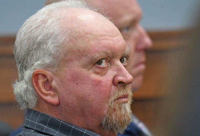 Brian Hurst listens to prosecutors Tuesday afternoon during his bench trial in front of Judge Phil Naumoff. Hurst is charged with five counts of rape, three counts of sexual battery, one count of gross sexual imposition and two counts of illegal use of a minor in nudity-oriented material.