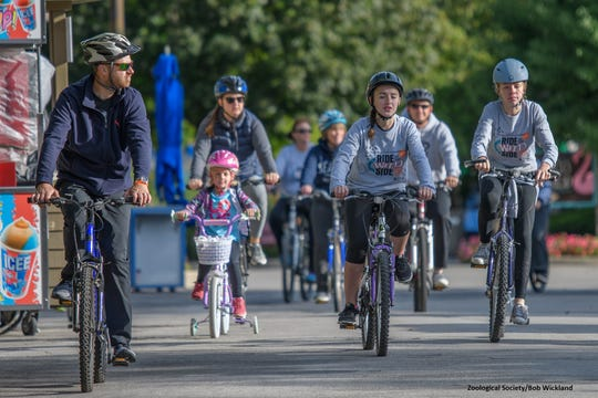 The Milwaukee Zoological Society's annual Ride on the Wild Side fundraiser allows people to ride their bikes at the zoo.