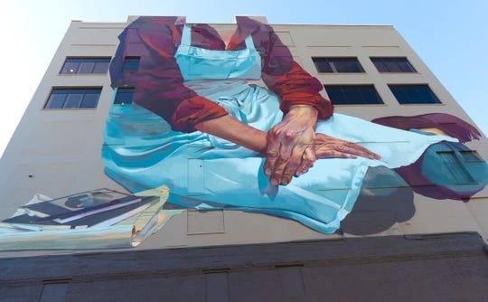 A mural by Andreas von Chrzanowski was recently painted on the north side of the P.H. Dye House building, at 320 E. Buffalo St. in Milwaukee's Historic Third Ward.