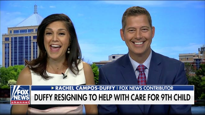 "Rachel Campos-Duffy and U.S. Rep Sean Duffy spoke Tuesday, Aug. 27, 2019, on ""Fox and Friends"" about the upcoming birth of their daughter and Duffy's decision to resign his seat in Congress."