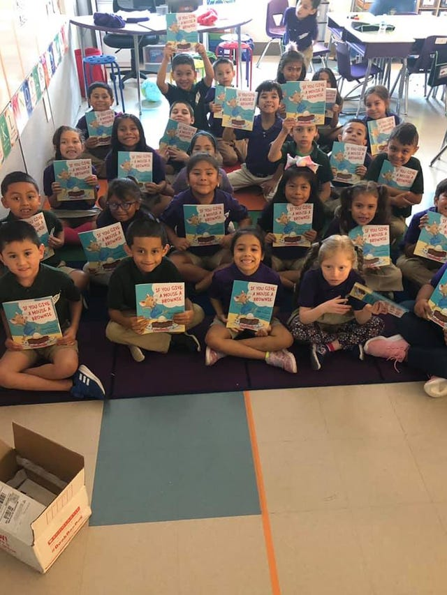 Teacher from Wauwatosa gets students new book each month of