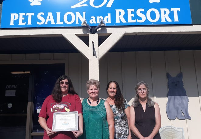 201 Pet Salon, located at 820 AR Highway 201 North, was recently inducted as members of the Mountain Home Area Chamber of Commerce. Membership inductions occur when a business has been in the area for some time and joins the Chamber. 201 Pet Salon & Resort offersprofessional grooming for all breeds of dogs andcats, and private suites for boarding with large grassy,shaded yards for pet comfort. For more information call (870) 425-5363. Brochures withdiscount coupons are available at the Chamber located at 1337 Highway 62 West in Mountain Home.