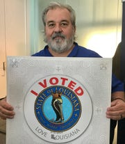 Lafayette artist Tony Bernard's image was used to create the 2019 'I Voted' sticker.