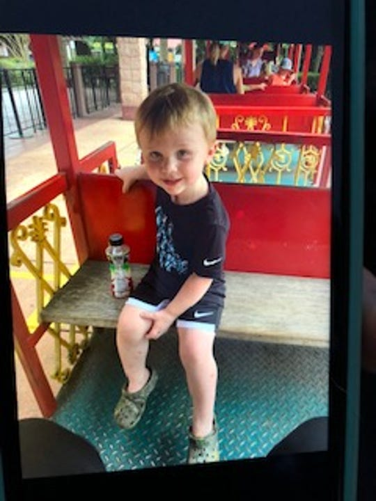 Zachary Rutherford was found just after dawn Tuesday after spending the night in the woods near his home.