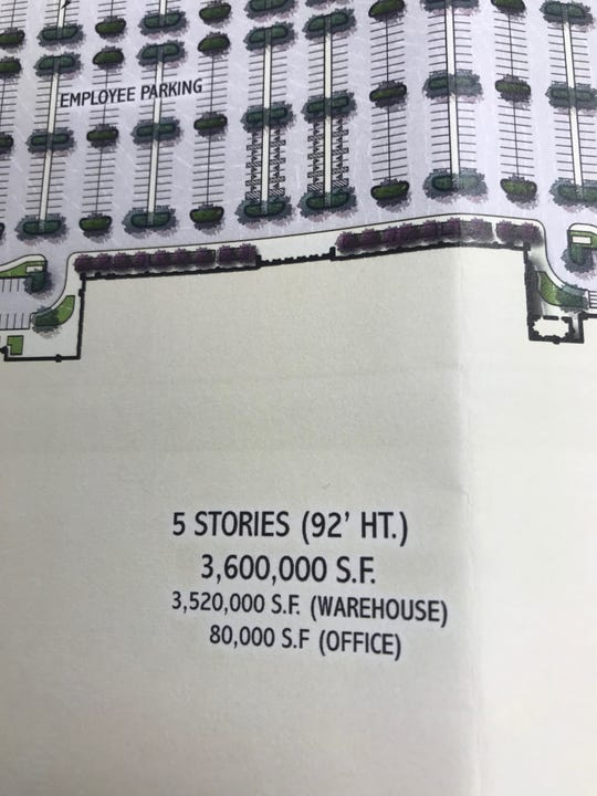 Project Sam is a submitted plan for 3.6 million square feet of warehouse and office space in Mt. Juliet.