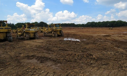 The site has been cleared for construction of a middle school on Henpeck Lane adjacent to Oak View Elementary.
