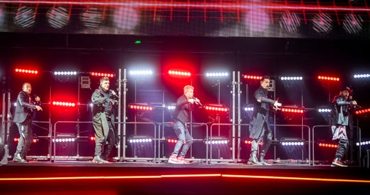 The Backstreet Boys perform at Bridgestone Arena Monday, August 26, 2019.
