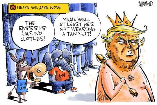Trump's new clothes.
