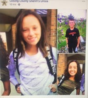 Photos of the three juveniles being sought by the Licking County Sheriff's office and posted to the LCSO Facebook page.