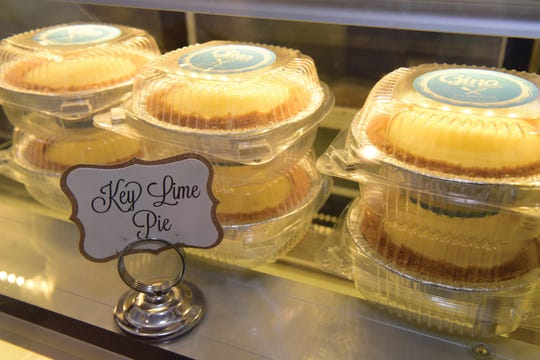 Key Lime Pies by Gina Constanza, owner of Gina the Baker, on Main Street in Ridgefield Park, N.J.
