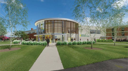 This rendering shows an architect's vision for the Wellness and Recreation Center that the Rutherford Planning Board approved for Felician University.