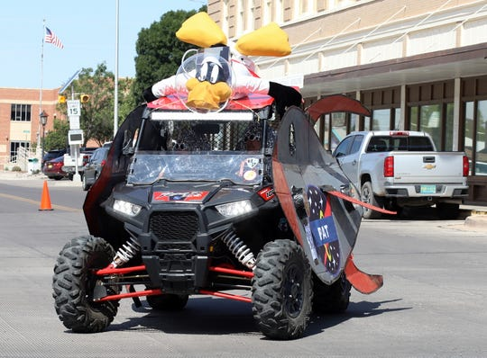 This extra-terrestrial ATV with a Daffy Duck aboard captured third place at this year's Tournament of Ducks Parade in Deming, NM.