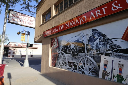 The new signage at the Museum of Navajo Art & Culture in downtown Farmington went up earlier this week.