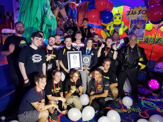 Zap Zone in Canton and Farmington set two world records over the weekend as a celebration of the company's 25th anniversary.