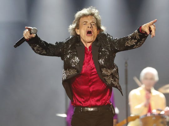 Mick Jagger of the Rolling Stones performs during their No Filter Tour in Glendale on Aug. 26, 2019.