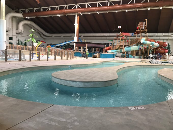 View of the water park in the Great Wolf Lodge Arizona. The resort will open to the public Sept. 18.