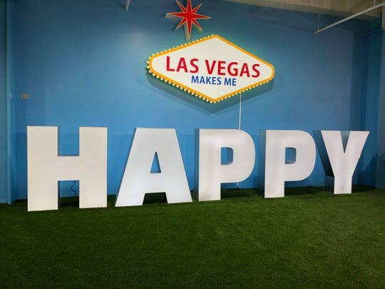 The Happy Place is a pop-up interactive exhibit with 11 whimsical rooms located in the Mandalay Bay Shoppes in Las Vegas.