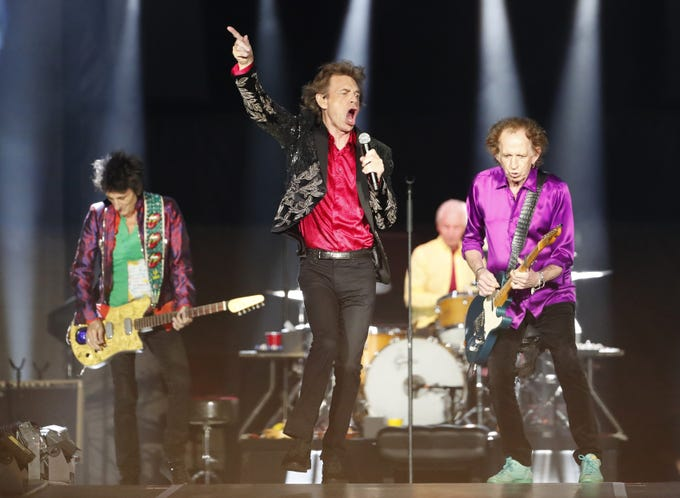 The Rolling Stones perform during their No Filter Tour in Glendale on Aug. 26, 2019.