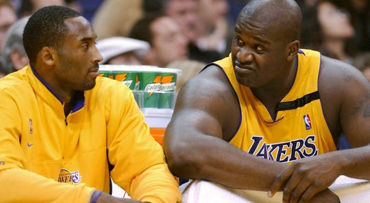 Kobe Bryant and Shaquille O'Neal won three straight NBA titles with the Los Angeles Lakers.
