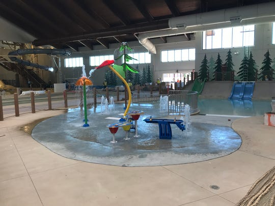 Splash pad at the Great Wolf Lodge Arizona for smaller guests.