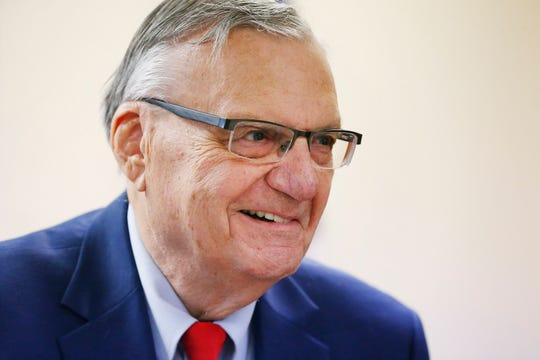 Former Maricopa County Sheriff Joe Arpaio stands in his office in Fountain Hills on Aug. 27, 2019.