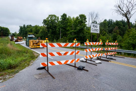 Wales Center Road is closed in Goodells Township while the bridge over the South Branch Pine River is replaced.