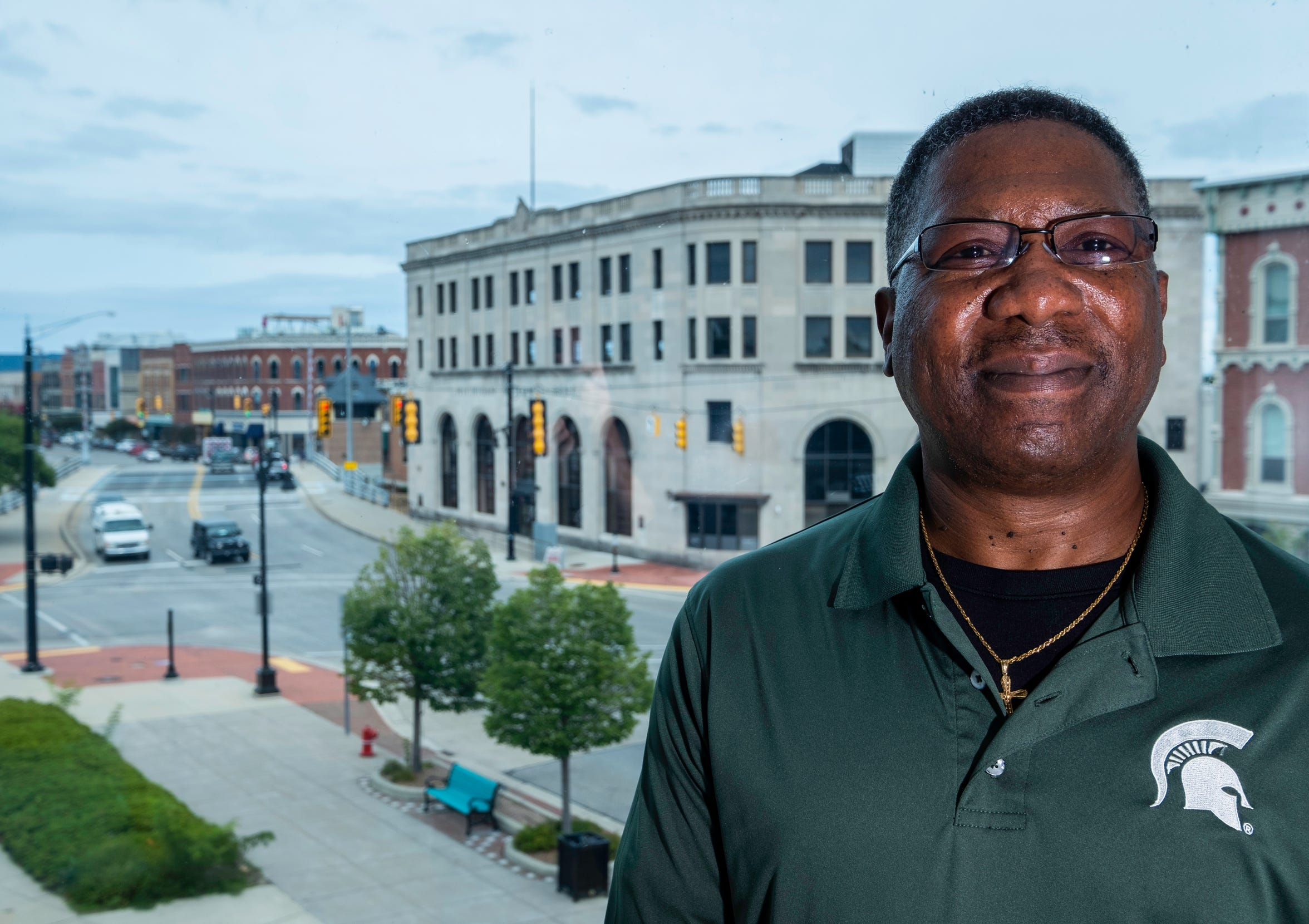 Kevin Watkins, president of the Port Huron branch of the NAACP, poses for a photo in Port Huron Tuesday, Aug. 27, 2019. Watkins shared share his experiences and thoughts on racism in the area, as well as  ideas on how to move forward and address it.