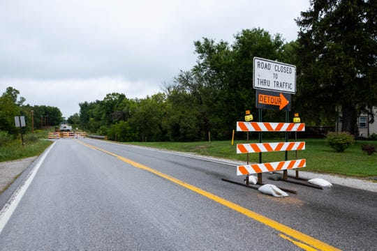 A detour has been set up to route drivers around work on Wales Center Road in Goodells Township.