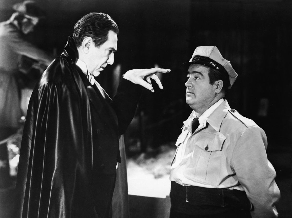 "Bela Lugosi, left, mesmerizes Lou Costello in this still from ""Abbott and Costello Meet Frankenstein."" The film will screen in Kingston, Aug. 30, and on Bannerman Island, Sept. 27"