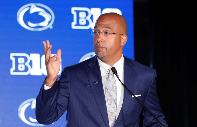 Penn State head football coach James Franklin.