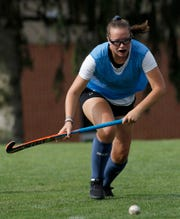 Dallastown's Julia Malle plays defense during field hockey practice, Tuesday, August 27, 2019.
