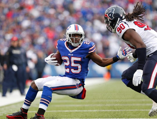 If the Bills are exploring a trade for Houston's Jadeveon Clowney, the man he is trying to tackle here, LeSean McCoy, might be a possible inclusion in the deal.