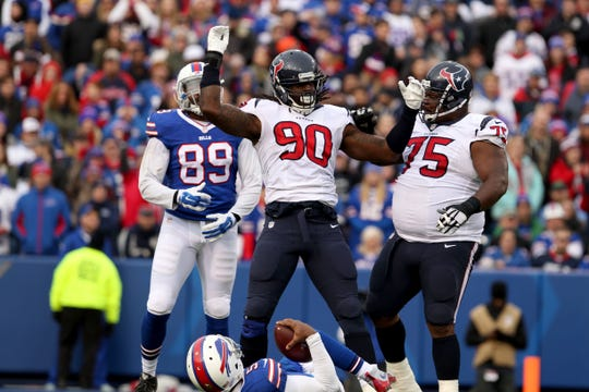 Houston edge rusher Jadeveon Clowney has been linked to the Bills as a possible trade acquisition.