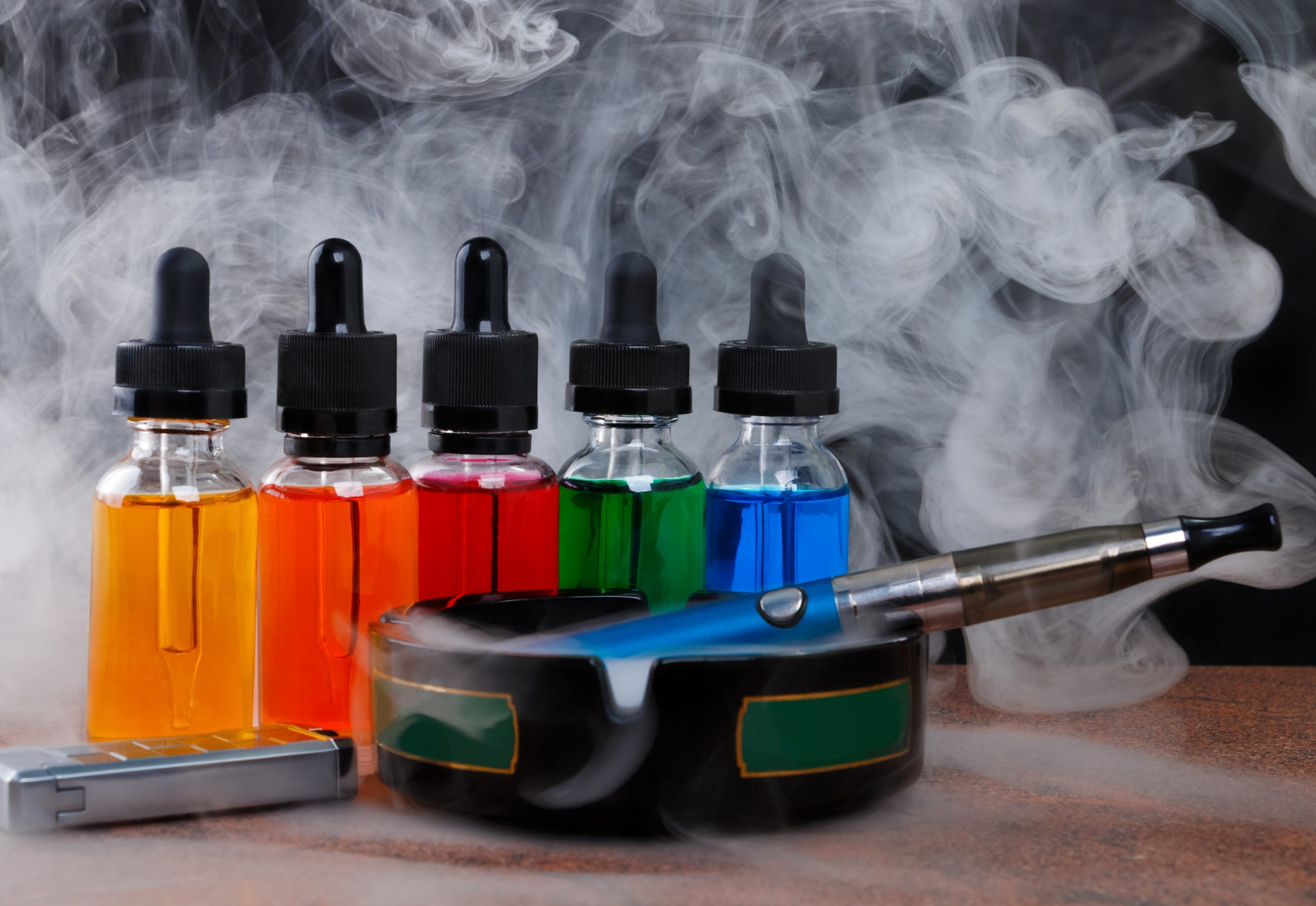 E-cigarettes and their flavored oils may seem less harmful than regular cigarettes, however, oil can be extremely toxic to the lungs.