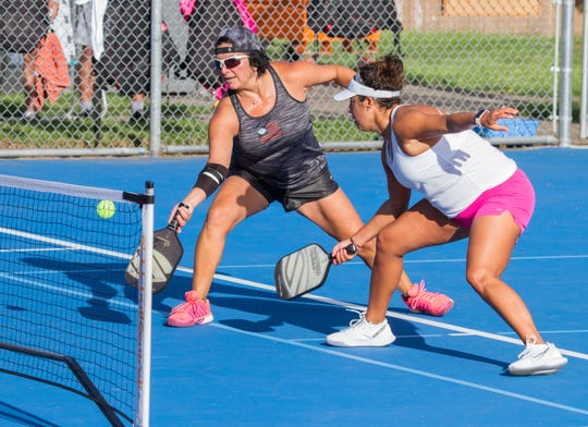 Players compete in a pickleball tournament in this USA Today file photo.
