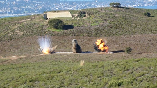 A December 2012 detonation at Fort Ord.