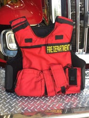 A bulletproof vest used by the Seaside Fire Department, which in 2012 sought to obtain body armor to protect firefighters from gunfire and other violence.